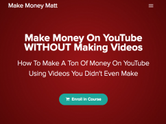 Matt Par – Make Money On YouTube without Making Videos – Value $99