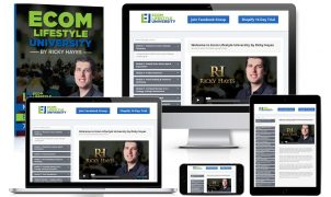 Ricky Hayes – Ecom Lifestyle University – Value $497