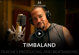 Timbaland – Teaches Producing and Beatmaking – Value $90