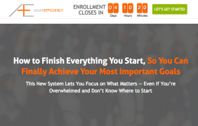 Asian Efficiency – Finisher's Fastlane – Value $499