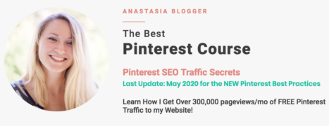 Anastasia Blogger – Pinterest SEO Traffic Secrets – Value $397