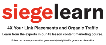 SiegeLearn – Content Marketing Course – Value $749