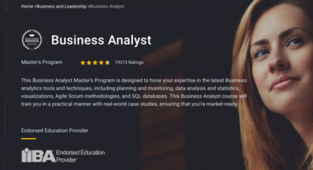 SimpliLearn – Business Analyst
