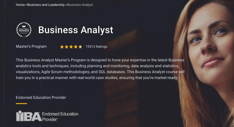 SimpliLearn – Business Analyst