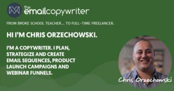 Chris Orzechowski – Email Copy Academy – Value $1000