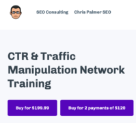 Chris Palmer – CTR and Traffic Manipulation Network Traning – Value $199.99