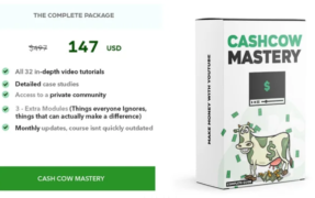 Cash Cow Mastery – Full (Youtube) Course – Value $97