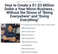 Ryan Lee – Micro-Business Workshop – Value $295